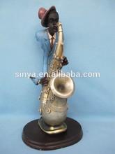 polyresin jazz player decoration