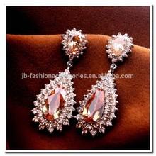 4 Colors Zircon Earrings, Multicolor AAA Zricon Earrings, 18K Platinum Plated Zircon Vintage Luxury Big Tears Earrings Jewelry