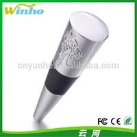 Winho Pewter Wine Bottle Stopper with Rubber Seals