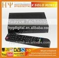 Teletexto e legendas suportados melhor receptor de satélite hd x solo mini2/mini vu solo