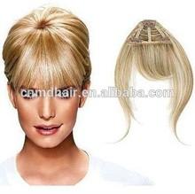 100 human hair bangs