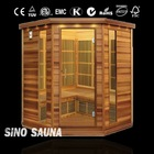 4 person new luxury seks sauna room with deluxe carbon heater