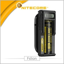 LCD Single bay/Slot charger Nitecore UM10 universal smart 18650 / 18350 battery charger