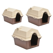 sloping roof luxury pet plastic house/pet kennel ,dog houses for large dogs