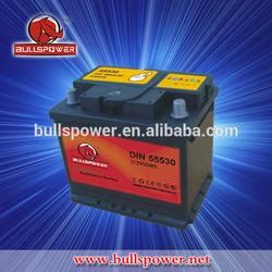 Automotive lead acid type 12v 55ah rechargeable car battery