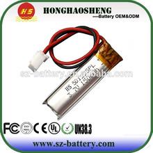 cheap price long life high capacity 3.7v li-polymer battery 051235 150mah lipo battery 3.7v lithium battery 3.7v 150mah 501235