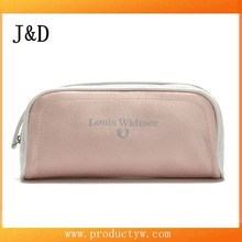 Fashion Pink Color Letter Pattern Women Makeup Satin Cosmetic Bag