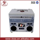 New design full printing metal cooler box with bluetooth speaker (C-028)