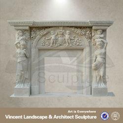 Quartz Stone For Fireplace,Quartz Fireplace Surround VFM-NA013 C