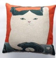 Linen Pillow cover with Hidden zipper Animals/Cartoons/Script/Architecture images