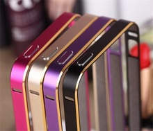 Ultra Thin Luxury Double Color Ultra Thin Aluminum Metal Frame Bumper Hard Cases cover for iPhone5 5G 5S