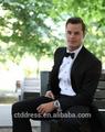 terno personalizado 2015 vestidos de noiva preto lapela do noivo smoking melhor homem ternos de casamento groomsman homens ternos de casamento noivo