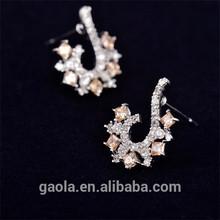 Fashion Jewelry 2014 Earrings Hot Sale Silver 925 Earring Zircon