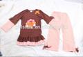 Fabricant de yiwu dinde. imprimer haut correspondant leggings. vêtements pour enfants de bande dessinée pour happy thanksgiving day