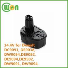 DC9091 DE9038 DW9094 DE9092 DE9094 DE9502 DW9091 DW9094 batteries 14.4V li-ion battery for dewalt 3ah