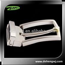 Nickel free Silver plated custom logo zinc belt buckles