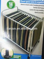 Rolling Pants hanger/ Rolling Pant Trouser Trolley hanger/metal Pants hanger