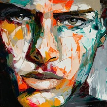 abstract colorful portrait oil painting on canvas 57671