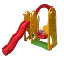 plastic colorful children swing and slide playground