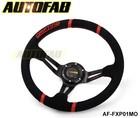 AUTOFAB - modified steering wheel automobile race steering wheel refires Suede Leather momo steering wheel 5128pu AF-FXP01MO