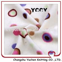 printed design wrap glitter fabric tricot