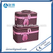 Fancy popular polyester foldable women organizer toiletry bag