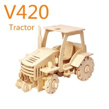 Robotime wooden toy vehicles car puzzle - Tractor