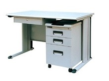 Office furniture Wood top Office computer desk with mobile filing cabinet