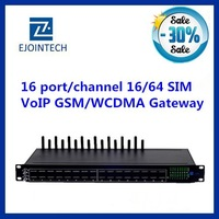Ejoin 2014 16 port gateways voip with multi sim rotation customised IVR free registration/gsm voice gateway