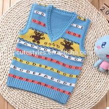 2015 venta caliente baby boy suéter con el patrón de oso niños suéter de punto infantil suéters envío gratis sw41112-1