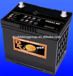 auto MF battery 55D23LMF 12V60AH