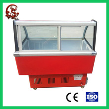 Open face counter top ice cream chiller cooler