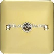 wall TV socket/television socket/tv satellite wall socket