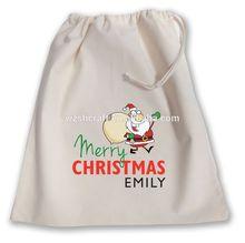 Shopping Used Eco Friendly Promotional Cotton Drawstring Bag