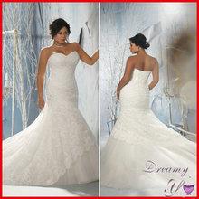 Fashion Sweetheart Beaded Mermaid Super Lace Plus Size Wedding Dress