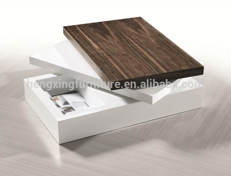 Fashion Design Rotatable Living Room Wood Teapoy