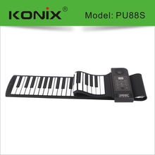 New 2014 Model Flexible Music Keyboard Piano with USB   Flexible Roll-Up Style MIDI Synthesizer Piano with 88 Soft Silicone Keys