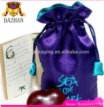 Christmas durable packaging satin hair bag supplier