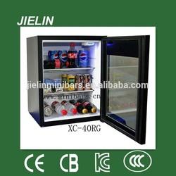 32litres glass door hotel mini bar noiseless absorption refrigerator