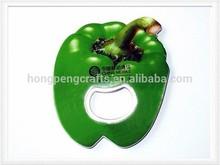 Green pepper shape bottle opener accepted custom design