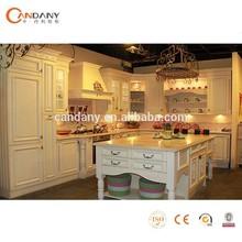Caliente venta melamina gabinete de cocina, Madera y puertas de hierro