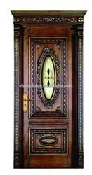 luxurious interior soild wooden door with window PLT-W02