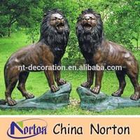Wildlife bronze lion sculpture NTBA-L029