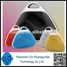 Hi Rice Triangle Shape Colorful FM Radio Reciever Mini Speaker For Tablet PC
