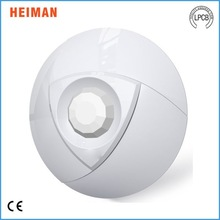 Double temperature compensation CE approved 9V 360 degree Wired or wireless pir motion sensor