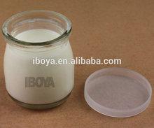 mini glass jar for juice pudding glass jar 100ml with plastic cap wholesale