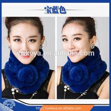 2014 Fashion Women Real Rex Rabbit Fur Scarf Women Fur Scarf