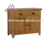 306 Rustic style natural oak 2 doors 2 drawers sideboard