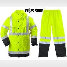 Road repair work rain coat