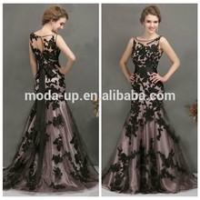 Gothic plus size evening dresses for fat women, plus size evening dress, black applique mermaid evening dress